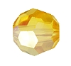 Swarovski 5000 Round Bead 8mm Light Topaz AB