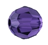 Swarovski 5000 Round Bead 4mm Purple Velvet