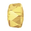 Swarovski 5045 Angular Rondelle Bead 6mm Crystal Metallic Sunshine