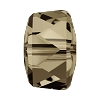 Swarovski 5045 Angular Rondelle Bead 8mm Smoky Quartz