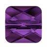 Swarovski 5053 Mini Square Bead 8mm Amethyst (12 Pieces)