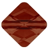 Swarovski 5054 Mini Rhombus Bead 6mm Crystal Red Magma (288 Pieces)