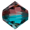 Swarovski 5328 Bicone Bead 6mm Burgundy Blue Zircon Blend