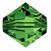 Swarovski 5328 Bicone Bead 4mm Dark Moss Green