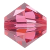 Swarovski 5328 Bicone Bead 6mm Indian Pink