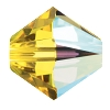 Swarovski 5328 Bicone Bead 4mm Light Topaz AB