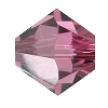 Swarovski 5328 Bicone Bead 4mm Rose Satin