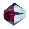 Swarovski 5328 Bicone Bead 4mm Ruby AB