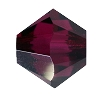 Swarovski 5328 Bicone Bead 4mm Ruby Satin