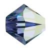 Swarovski 5328 Bicone Bead 5mm Tanzanite AB