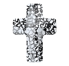 Swarovski 5378 Cross Bead 14mm Crystal Black Patina (72 Pieces)