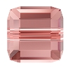 Swarovski 5601 Cube Bead 6mm Rose Peach