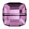 Swarovski 5601 Cube Bead 8mm Light Amethyst (96 Pieces)