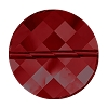 Swarovski 5621 Twist Bead 14mm Crystal Red Magma