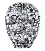 Swarovski 5750 Skull Bead 13mm Crystal Black Patina (12 Pieces)