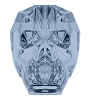 Swarovski 5750 Skull Bead 13mm Denim Blue (12 Pieces)