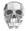 Swarovski 5750 Skull Bead 13mm Crystal Light Chrome (12 Pieces)