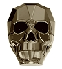 Swarovski 5750 Skull Bead 13mm Crystal Metallic Light Gold 2x (12 Pieces)