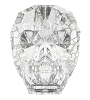 Swarovski 5750 Skull Bead 13mm Crystal Silver Patina (12 Pieces)