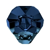Swarovski 5751 Panther Bead 14mm Crystal Metallic Blue 2x (2 Pieces)