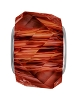Swarovski 5928 BeCharmed Helix Bead 14mm Crystal Red Magma