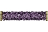 Swarovski 5950 Fine Rocks Tube Bead (With Gold Plated Metal Ending) 30mm Amethyst