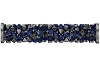 Swarovski 5950 Fine Rocks Tube Bead (With Stainless Steel Metal Ending) 30mm Crystal Bermuda Blue