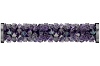 Swarovski 5950 Fine Rocks Tube Bead (With Stainless Steel Metal Ending) 30mm Light Amethyst Paradise Shine