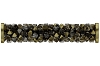 Swarovski 5950 Fine Rocks Tube Bead (With Gold Plated Metal Ending) 30mm Light Colorado Topaz & Dorado Mix