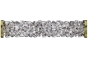 Swarovski 5950 Fine Rocks Tube Bead (With Gold Plated Metal Ending) 30mm Crystal Moonlight