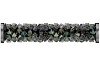 Swarovski 5950 Fine Rocks Tube Bead (With Stainless Steel Metal Ending) 30mm Crystal Paradise Shine