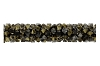 Swarovski 5951 Fine Rocks Tube Bead (Without Ending) 30mm Light Colorado Topaz & Dorado Mix