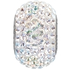 Swarovski 80101 BeCharmed Pave Round Bead 14mm Crystal AB (12 Pieces)