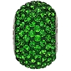 Swarovski 80101 BeCharmed Pave Round Bead 14mm Dark Moss Green (12 Pieces)