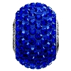 Swarovski 80101 BeCharmed Pave Round Bead 14mm Majestic Blue (12 Pieces)