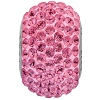 Swarovski 80101 BeCharmed Pave Round Bead 14mm Rose (12 Pieces)