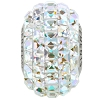 Swarovski 80201 BeCharmed Pave Fancy Square Bead 15mm Crystal AB (12 Pieces)