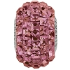 Swarovski 80201 BeCharmed Pave Fancy Square Bead 15mm Crystal Lilac Shadow (12 Pieces)