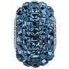 Swarovski 80201 BeCharmed Pave Fancy Square Bead 15mm Montana (12 Pieces)
