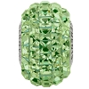 Swarovski 80201 BeCharmed Pave Fancy Square Bead 15mm Peridot (12 Pieces)