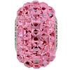 Swarovski 80201 BeCharmed Pave Fancy Square Bead 15mm Rose (12 Pieces)