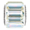 Swarovski 80301 BeCharmed Fancy Baguette Bead 10.5mm Crystal AB (12 Pieces)