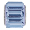 Swarovski 80301 BeCharmed Fancy Baguette Bead 10.5mm Light Sapphire (12 Pieces)