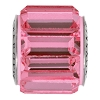 Swarovski 80301 BeCharmed Fancy Baguette Bead 10.5mm Rose (12 Pieces)