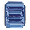 Swarovski 80301 BeCharmed Fancy Baguette Bead 10.5mm Sapphire (12 Pieces)
