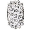 Swarovski 80401 BeCharmed Pave Spike Bead 16mm Crystal Comet Argent Light (12 Pieces)