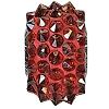 Swarovski 80401 BeCharmed Pave Spike Bead 16mm Crystal Red Magma (12 Pieces)