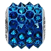 Swarovski 80901 BeCharmed Pave Spike Bead 11.5mm Crystal Bermuda Blue (12 Pieces)