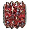 Swarovski 80901 BeCharmed Pave Spike Bead 11.5mm Crystal Red Magma (12 Pieces)
