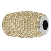 Swarovski 80921 BeCharmed Pave Column Bead 13mm Crystal Golden Shadow (2 Pieces)